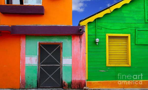 Wall Art - Photograph - Colorful Caribbean Houses Tropical by Lunamarina