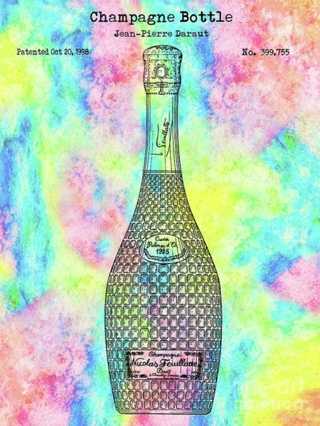 Wall Art - Photograph - Colorful Champagne Bottle by Jon Neidert