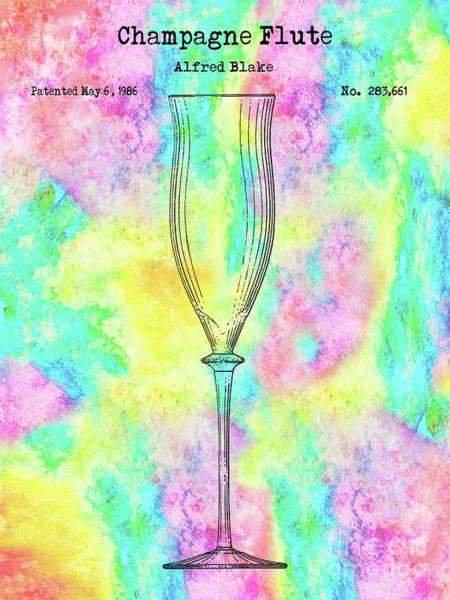 Wall Art - Photograph - Colorful Champagne Flute by Jon Neidert