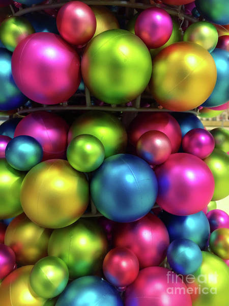 Wall Art - Photograph - Colorful Christmas Baubles by Tom Gowanlock
