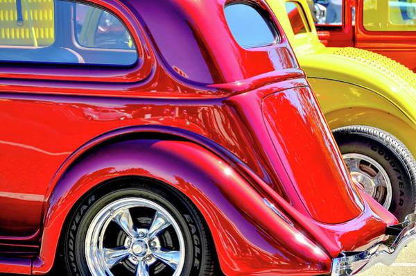 Wall Art - Photograph - Colorful Classic Cars by David Lawson
