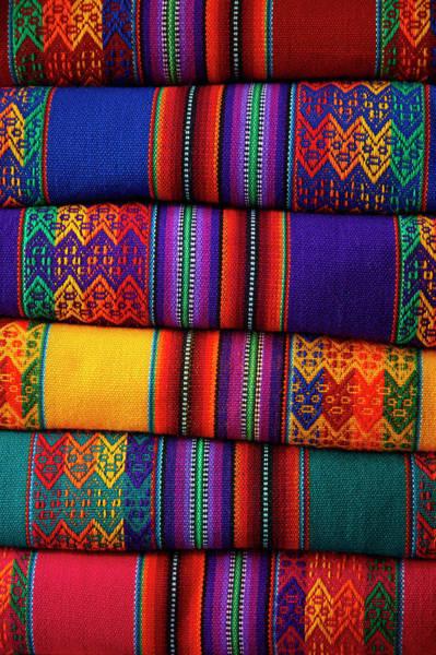 Wall Art - Photograph - Colorful Cloth, Cusco, Peru by David Wall