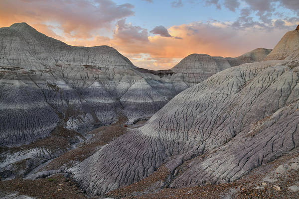 Photograph - Colorful Clouds Over Blue Mesa At Sunset by Ray Mathis