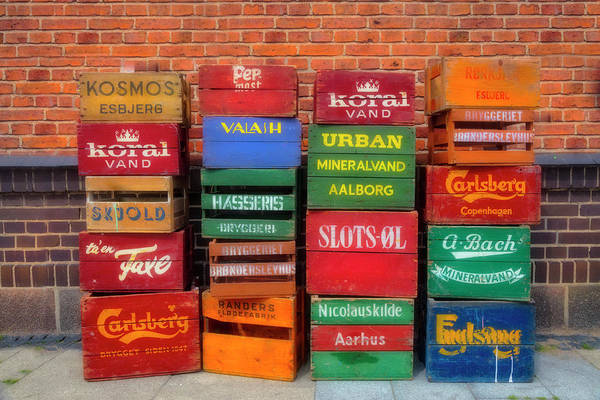 Photograph - Colorful Crates by Debra and Dave Vanderlaan