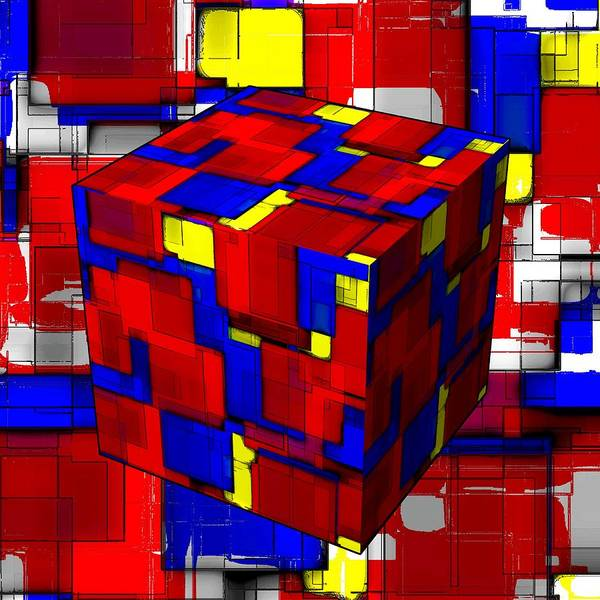 Wall Art - Painting - Colorful Cube by ArtMarketJapan