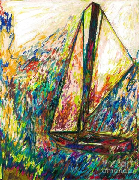 Drawing - Colorful Day On The Water by Jon Kittleson
