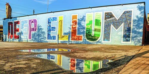 Photograph - Colorful Deep Ellum Dallas Texas Mural Landmark Panorama by Gregory Ballos