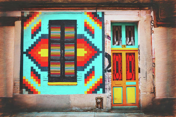 Primary Colors Photograph - Colorful Doorway Toulouse France  by Carol Japp