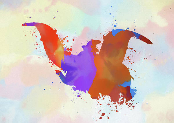 Painting - Colorful Dumbo Flying by Dan Sproul