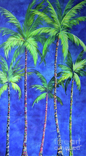Painting - Colorful Family Of Five Palms by Kristen Abrahamson