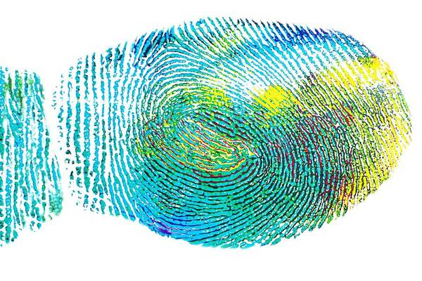 Finger Painting - Colorful Fingerprint by ArtMarketJapan
