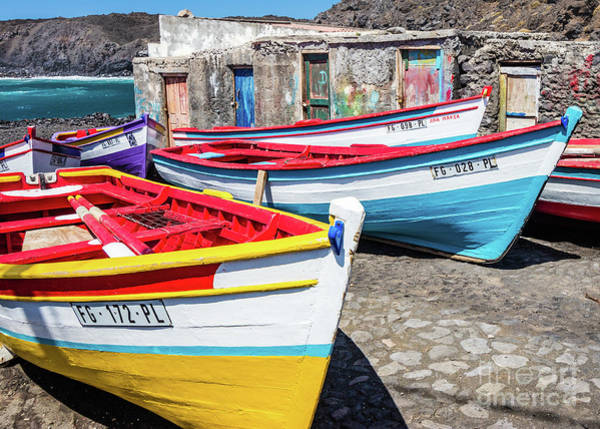 Photograph - Colorful Fishing Boats, Cape Verde by Lyl Dil Creations