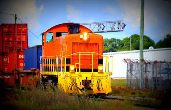 Photograph - Colorful Freight Train by Cynthia Guinn
