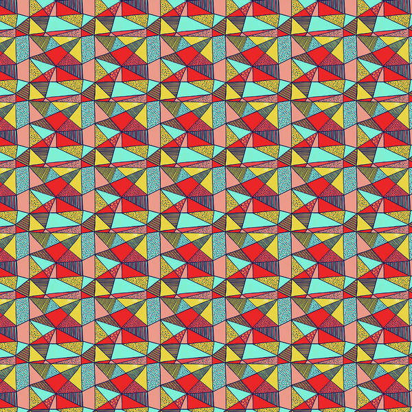 Colorful Geometric Abstract Pattern Art Print