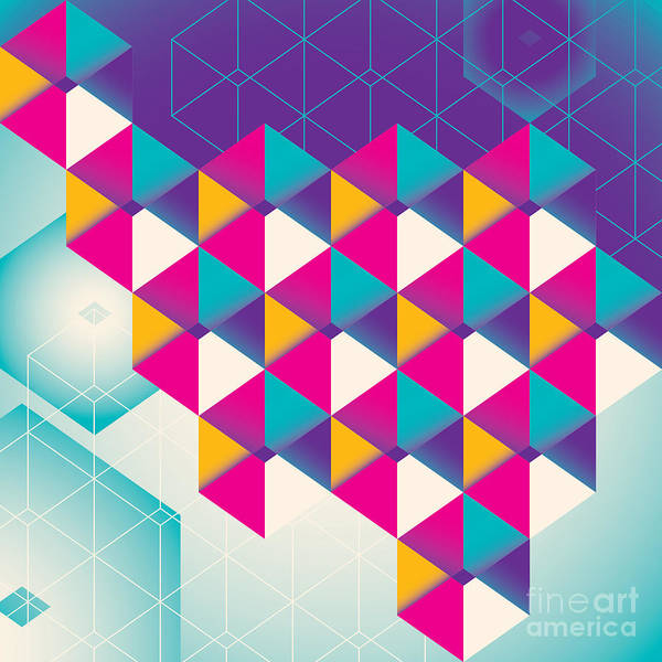 Wall Art - Digital Art - Colorful Geometric Abstraction. Vector by Radoman Durkovic