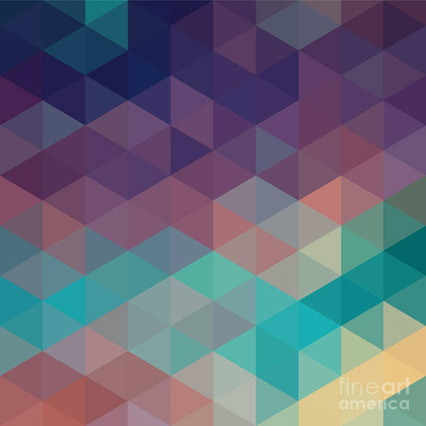 Wall Art - Digital Art - Colorful Geometric Background With by Olha Kostiuk