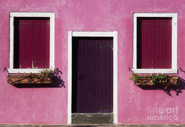 Wall Art - Photograph - Colorful Geometry Photo Of A House In by Zinaida Zakharova
