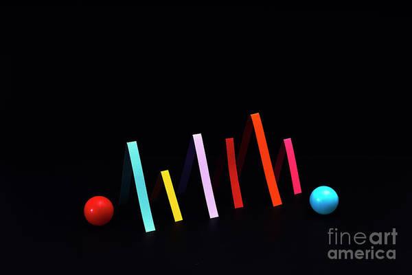 Photograph - Colorful Graph by Daniel Grizelj