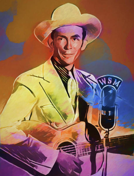 Wall Art - Painting - Colorful Hank Williams by Dan Sproul