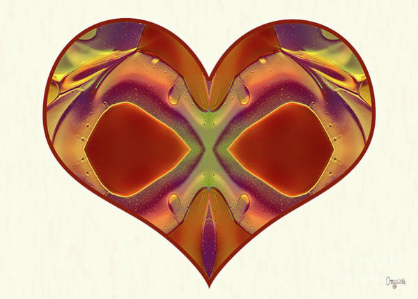 Digital Art - Colorful Heart - Naked Truth - Omaste Witkowski by Omaste Witkowski