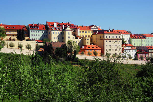 Wall Art - Photograph - Colorful Houses Of Hradcany Hilltop In Prague by Jenny Rainbow