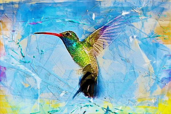 Wall Art - Painting - Colorful Hummingbird by ArtMarketJapan