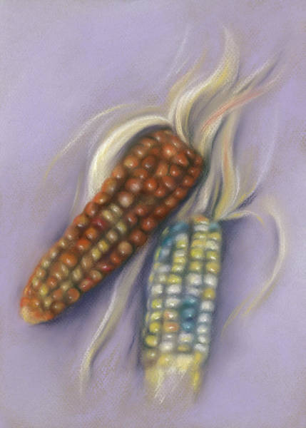 Pastel - Colorful Indian Corn Ears by MM Anderson