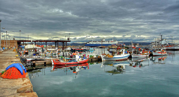 Greece Photograph - Colorful Lavrium Fishing Port by Alexandros Photos