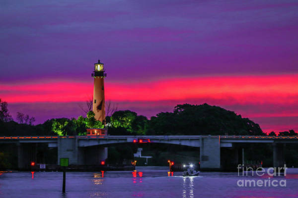 Photograph - Colorful Lighthouse Morning by Tom Claud
