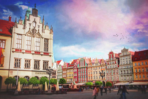 Wall Art - Photograph - Colorful Market Square Wroclaw Poland by Carol Japp