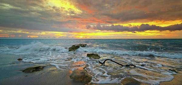 Photograph - Colorful Morning Sky And Sea by Steve DaPonte
