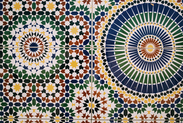 Wall Art - Photograph - Colorful Moroccon Tiles by Pati Photography
