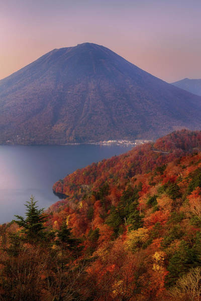 Nikko Photograph - Colorful Mt. Nantai During Autumn by Agustin Rafael C. Reyes