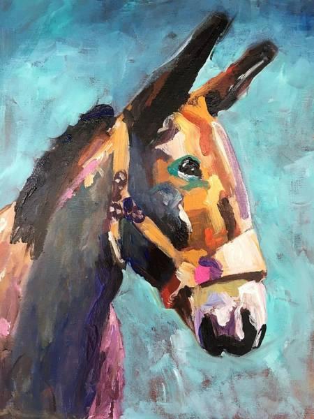 Wall Art - Painting - Colorful Mule by Susan Elizabeth Jones
