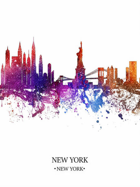 City Scape Digital Art - Colorful New York by Tim Palmer