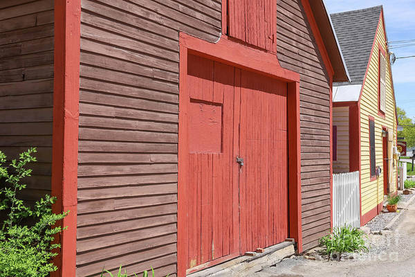 Wall Art - Photograph - Colorful Old Barns New Boston New Hampshire by Edward Fielding