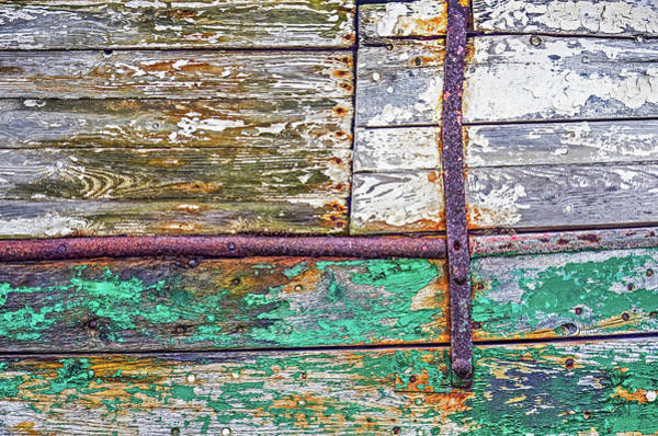 Photograph - Colorful Old Wooden Schip's Hull by Frans Blok