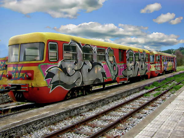 Photograph - Colorful Passenger Train by Anthony Dezenzio