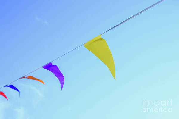 Photograph - Colorful Pennants With Sky Background To Place Text by Joaquin Corbalan