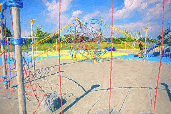 Painting - Colorful Playground by Dan Sproul