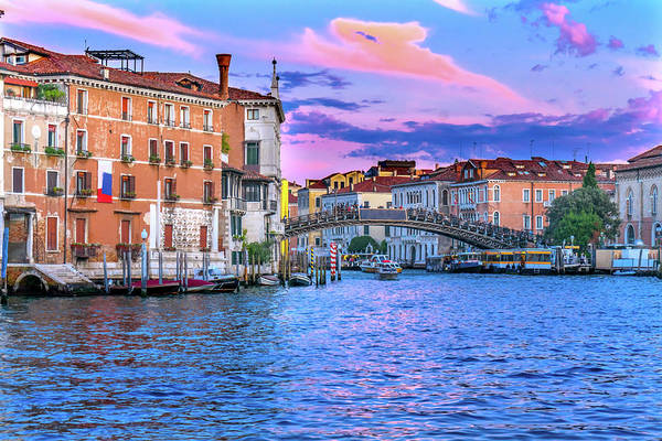 Wall Art - Photograph - Colorful Ponte Dell Academia Bridge by William Perry