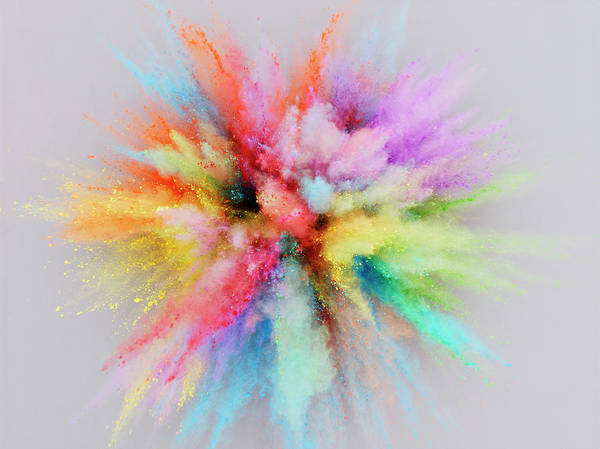 Photograph - Colorful Powder Explosion by Stilllifephotographer