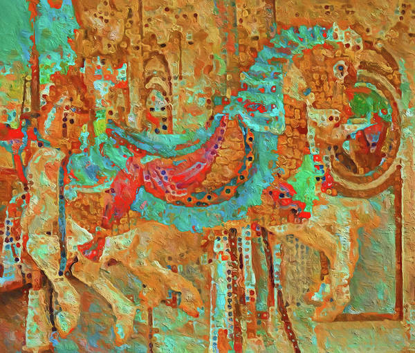 Wall Art - Painting - Colorful Ride Horse by Dan Sproul