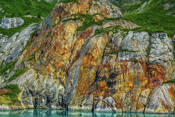 Wall Art - Photograph - Colorful Rock Face  by Edward Garey
