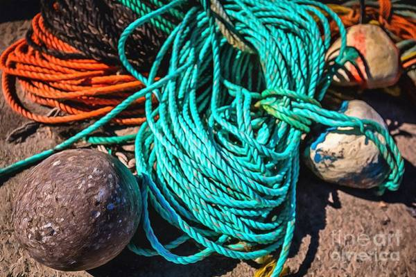 Photograph - Colorful Ropes by Eva Lechner