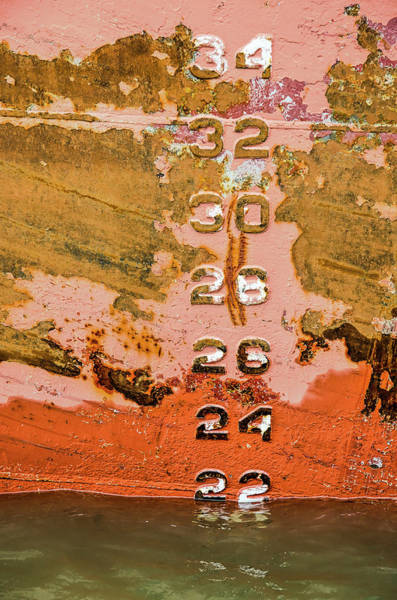 Photograph - Colorful Ship's Hull With Draft Mark by Frans Blok