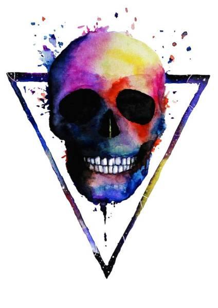 Wall Art - Painting - Colorful Skull by ArtMarketJapan