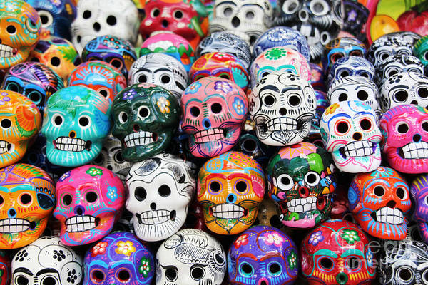 Wall Art - Photograph - Colorful Skull From Mexican Tradition by Sisqopote