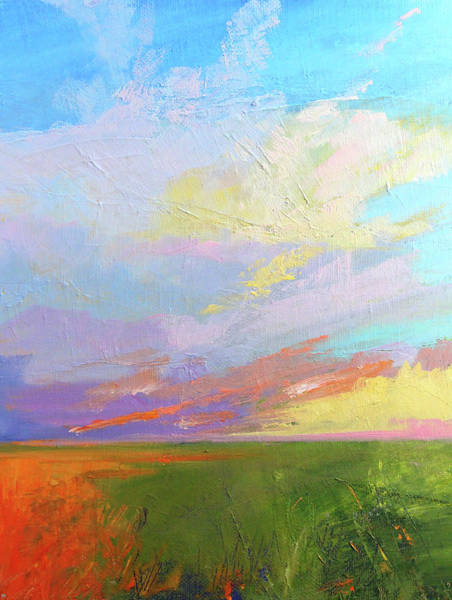Wall Art - Painting - Colorful Sky by Nancy Merkle