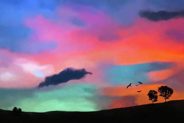 Digital Art - Colorful Sky by Tanja Udelhofen